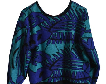 ViNTAGE BLUE HAWAii SWEATER