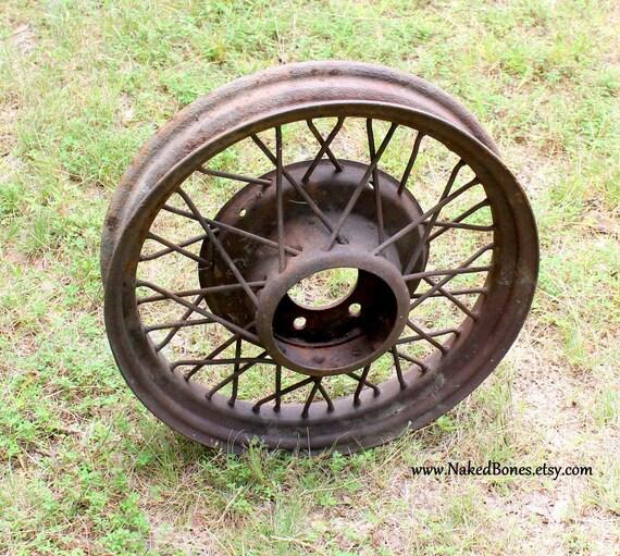 Antique Automobile Wire Wheel Rim 1920\'s 1930\'s Car
