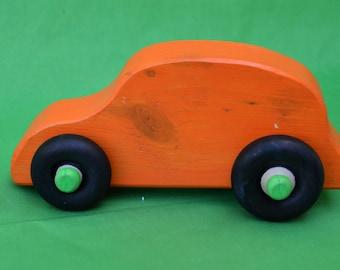 Car, Orange Wood Car, Orange Car