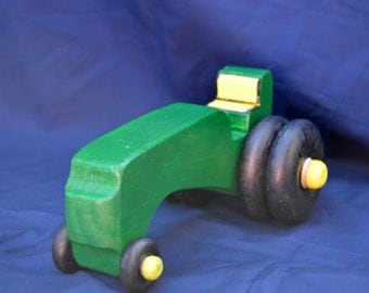 Tractor, Green Tractor, Toy Tractor, Wood Tractor, Farm Toy