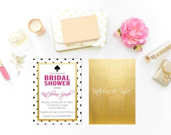 Spade Inspired Printable Party Invitation