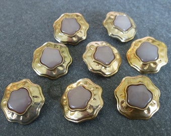 Vintage gold buttons.  Set of 8