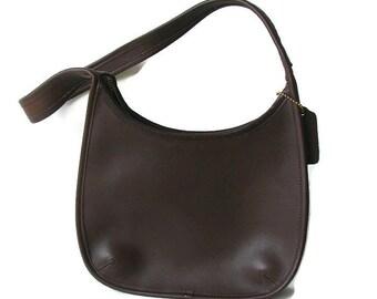 Coach bag. Leather coach hobo bag. Vintage brown  shoulder bag. Authentic coach bag.