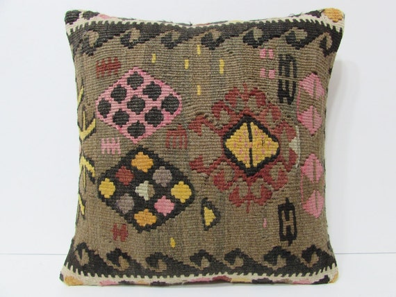 oversized floor pillow 18x18 turkish pillow case unique throw pillow boho cushion cover urban ...