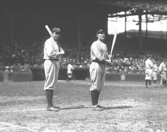 Babe Ruth & Ty Cobb At The Polo Grounds on May 20, 1920