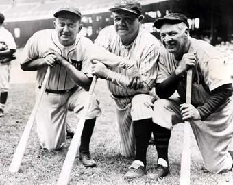 Babe Ruth , Ty Cobb & Tris Speaker