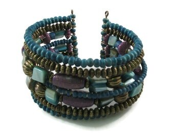 Vintage Beaded Cuff Bracelet