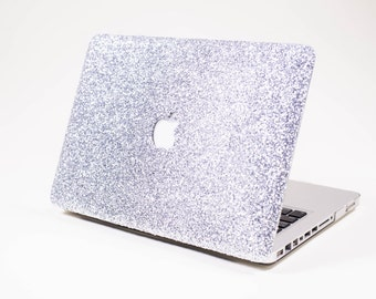 SILVER- Glitter Macbook Case for Macbook Air,  Macbook Pro, + Macbook Pro with Retina Display