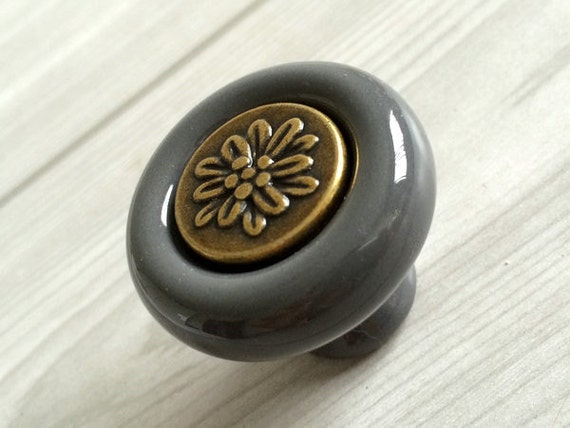 Gray Knobs Kitchen Cabinet Knobs Dresser Door Knob Drawer Knobs Pulls