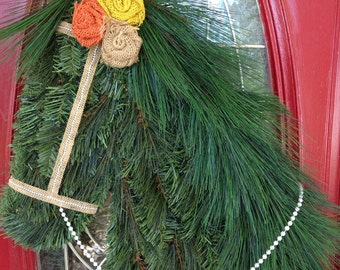 Fall Burlap Horse Wreath