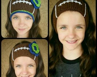 Football Ear Warmer Headband Headwrap adjustable