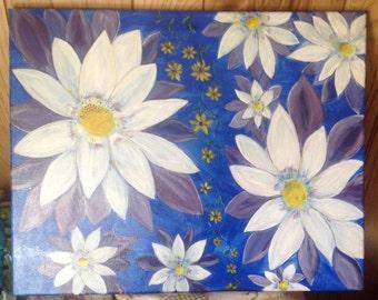 16x20 original acrylic flower painting