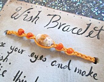 Good Luck Bracelet - Wish Bracelet - Braided Friendship Bracelet - Paper Bead Bracelet - Eco-friendly Bracelet - Birthday Gift - For Her