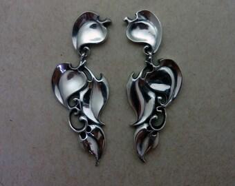 Sturbridge Ivy Leaf Dangle Earrings - Handmade in 14k Gold or Sterling Silver