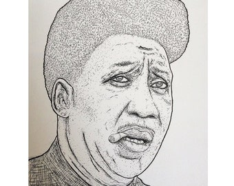 MUDDY WATERS pen and ink illustration