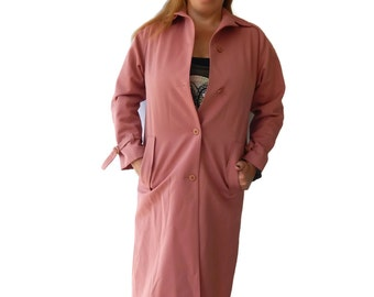 Trench Coat Forecaster of Boston Women's Raincoat Rose Wine