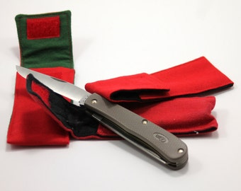 """Red """"Trapper"""" Pocket for 4 to 4 1/2 in. Folding Knife"""