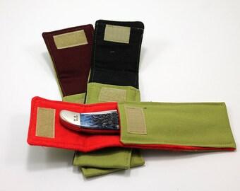 """Olive """"Hunter"""" Pocket for 5 to 5 1/2 in. Folding Knife"""