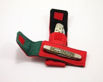 "Red ""Whittler"" Pocket for 3 to 3.75  in. Folding Knife"