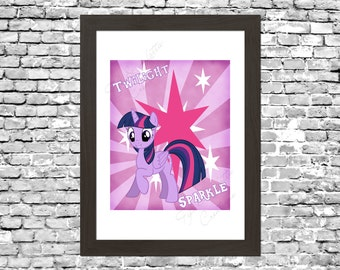 My Little Pony Twilight Sparkle Wall Art Printable Instant Download