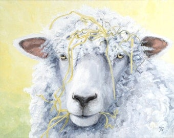 """Leicester Longwool sheep, """"To Know Me, Is To Love Me"""" giclée print from original painting"""