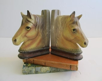 Horse Bookends, Ceramic Horses, Horses, Bookends, Horse Decor, Vintage Bookends, Vintage Books, Japan, Vintage Books, Bookshelves, Office