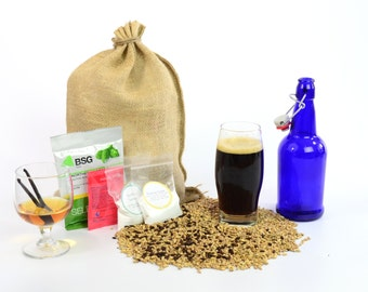 Bourbon Vanilla Porter One Gallon Beer Home Brewing Recipe Kit -1 Gallon Small Batch Brewing Ingredient Kit