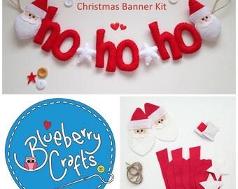 Sew Your Own Ho Ho Ho Santa Banner Kit