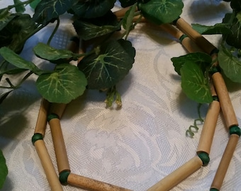 Bamboo and Green Beads Necklace
