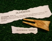 """Olivewood """"Wedge"""" style divot repair tool """"Reserved for Kelly"""""""