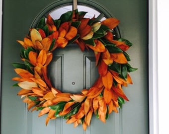 Handmade Magnolia Wreath 24 inches