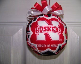 University of Nebraska/ Cornhuskers Quilted Ornament