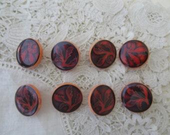 Vintage button x 8