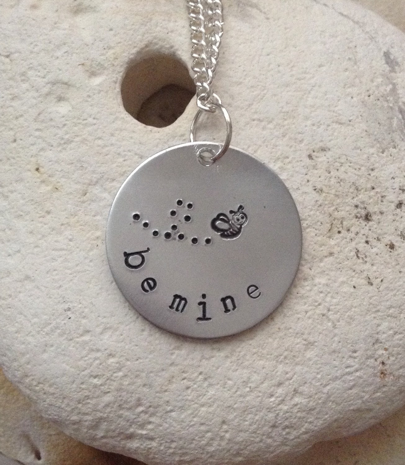 Be mine love necklace, cute bee necklace, gift for her, Valentine's Day gift