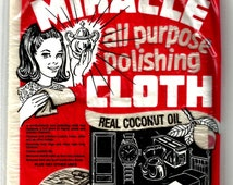 "new MIRACLE 6"" x 9"" CLOTH Coconut Oil polishing clean wax polish metal brass silver chrome 68551"