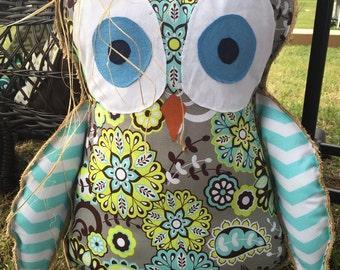 Owl (Halloween/Fall) Burlap Door Hanger
