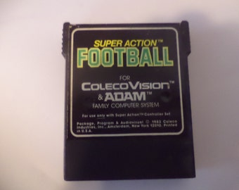 1983 Super Action Football Video Game Coleco Vision