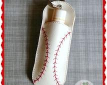 Baseball Chapstick Holder, Case, Keychain