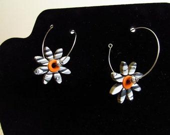 Monochrome Retro Polymer Clay Earrings