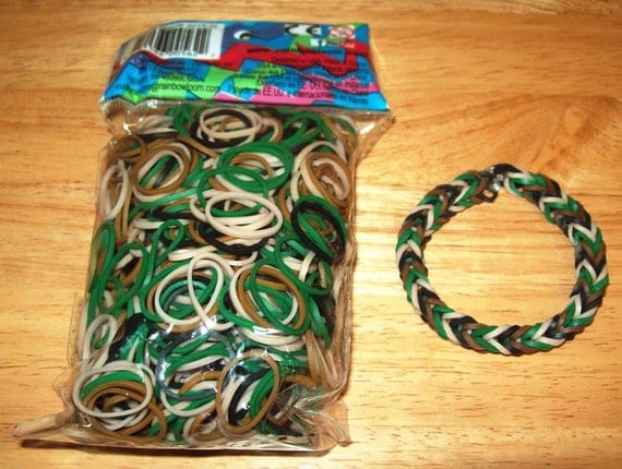 Rainbow Loom 174 Authentic Rubber Bands Mixed Camouflage Colors