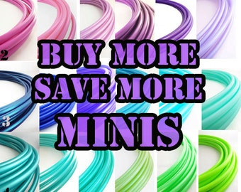 """Mini Polypro  Hoops Buy More Save More // 1-6 mini Hoops Riveted Shut 18""""-25"""" or Push Pin to Close 20""""-25"""""""