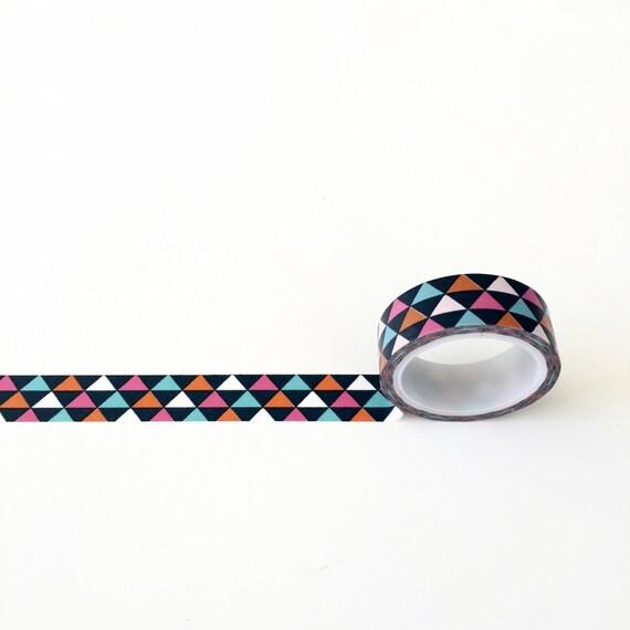 Geometric multi color washi tape for Geometric washi tape designs