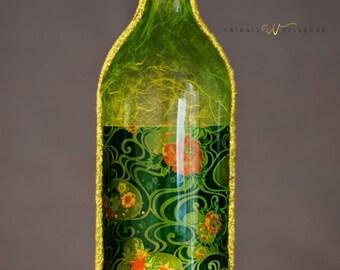 Wine bottle incense burner