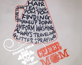 Cheer Mom Megaphone T Shirt