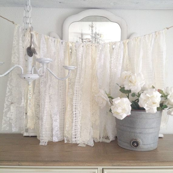 lace wedding garland shabby chic wedding decor diy vintage. Black Bedroom Furniture Sets. Home Design Ideas