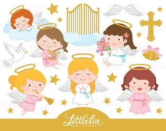 Angel clipart - Heaven clipart - 15061