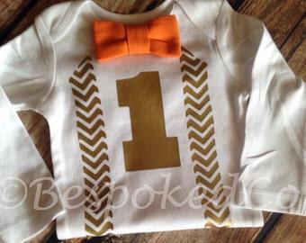 Boys Fall first birthday / Fall birthday suspenders / Fall Birthday /Boys first birthday