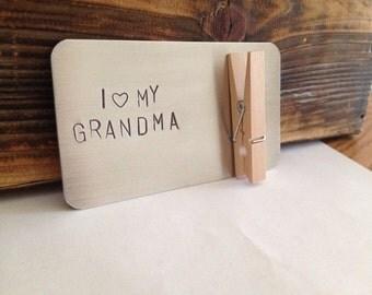 I love my grandma, granny, nana, gran, glama magnet. Personalized gift for grandparents, gift for grandma