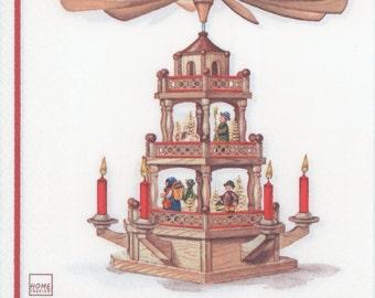 Decoupage Paper Napkins | Christmas Pyramid | Christmas Napkins | Holiday Napkins | German Napkins | Paper Napkins for Decoupage