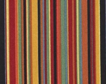 """Marcus Quilt Fabric - Tricks and Treats - Designer Edelen Wille - Multi Stripe Quilt Fabric - 17"""" x 45"""""""